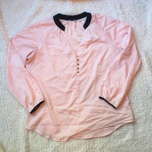 New York & Company Sheer Pink Blouse